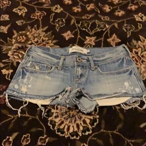 Girls abercrombie and Fitch denim shorts